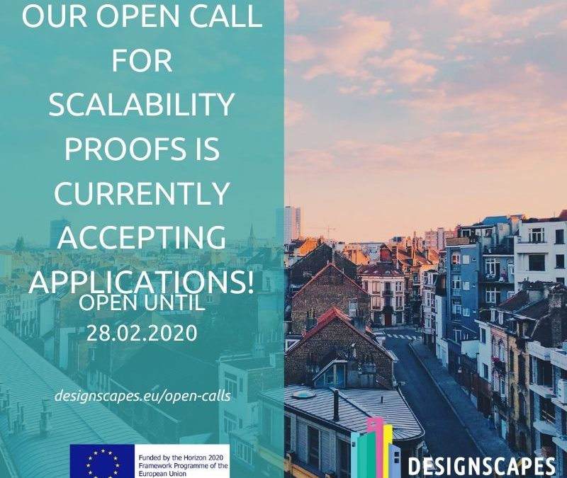 DESIGNSCAPES is looking to fund your design-enabled Scalability Proofs with up to 25k!